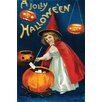Buyenlarge 'A Jolly Halloween' by Ellen M. Clapnoddle Graphic Art