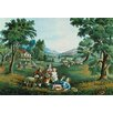 Buyenlarge 'Four Seasons' by Currier and Ives Painting Print
