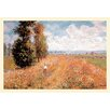 Buyenlarge Paysage Pres de Giverny by Claude Monet Painting Print