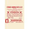 Buyenlarge 'Stronger Ammonia Water' Textual Art