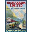 Buyenlarge Trans-Canada Limited - Fastest Train Across the Continent Vintage Advertisement