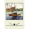 Buyenlarge Flags and Boat (Dodge Boats) Painting Print