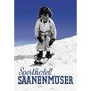 Buyenlarge Sporthotel Saanenmoser: Little Girl Skiing by Armin Reiber Vintage Advertisement