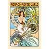 Buyenlarge Monaco - Monte Carlo by Alphonse Mucha Vintage Advertisement