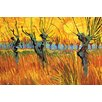 Buyenlarge 'Pollard Willows at Sunset' by Vincent Van Gogh Painting Print