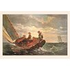 Buyenlarge 'Breezing Up' by Winslow Homer Painting Print