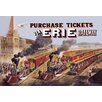 Buyenlarge Purchase Tickets via Erie Railway by Currier and Ives Vintage Advertisement