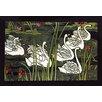 Buyenlarge 'Journal de la Beaute / Swans' by Louis Rhead Painting Print