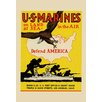 Buyenlarge 'U.S. Marines Defend America' Vintage Advertisement
