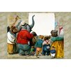 Buyenlarge 'Animals at the Wall' by G.H. Thompson Graphic Art