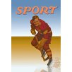 Buyenlarge Hockey Player Shredding Ice Vintage Advertisement