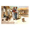 Buyenlarge A Soldier and Villagers by Richard Simkin Painting Print