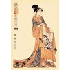 Buyenlarge The Hour of the Hare by Utamaro Painting Print