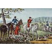 Buyenlarge Fox Hunt by Nathaniel Currier Painting Print