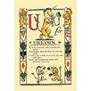 Buyenlarge U for Unicorn by Tony Sarge Vintage Advertisement