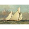 Buyenlarge Close Reach for the Stake Boat Painting Print