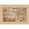 Buyenlarge America by Jodocus Hondius Framed Graphic Art