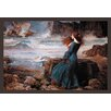 Buyenlarge Miranda and the Tempest by John William Waterhouse Framed Painting Print