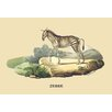 Buyenlarge Zebre (Zebra) by E. F. Noel Painting Print