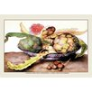 Buyenlarge A Chinese Dish with Artichokes, a Rose and Strawberries by Giovanna Garzoni Framed Painting Print