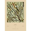 Buyenlarge 'Asian Knives' by Auguste Racinet Graphic Art