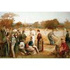 Buyenlarge 'Victorian Tennis Match' Painting Print