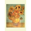 Buyenlarge 'Sunflowers' by Vincent van Gogh Framed Painting Print