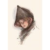Buyenlarge And Yet Her Eyes Can Look Wise by Harrison Fisher Painting Print