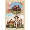 Buyenlarge 'Pavilions of Nicaragua and Monaco' Framed Painting Print