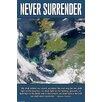 Buyenlarge 'Never Surrender' by Wilbur Pierce Graphic Art