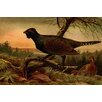 Buyenlarge 'Wood Grouse, Heather Cock or Caipercaille' by F.W. Kuhnert Painting Print