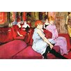 Buyenlarge 'Salon in the Rue de Moulins' by Toulouse-Lautrec Painting Print