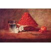 Buyenlarge 'Still Life of a Strawberry Basket' by Jean Chardin Painting Print