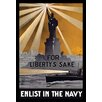 Buyenlarge 'For Liberty's sake, enlist in the Navy' by Smith & Porter Press Graphic Art