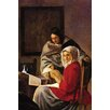 Buyenlarge 'Girl Interrupted in her Music' by Johannes Vermeer Painting Print