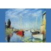 Buyenlarge 'Pleasure Boats at Argenteuil' by Claude Monet Painting Print
