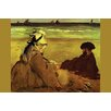 Buyenlarge 'On the Beach' by Edouard Manet Painting Print