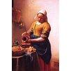 Buyenlarge 'Milk Maid' by Johannes Vermeer Painting Print