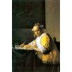 Buyenlarge 'Woman in Yellow' by Johannes Vermeer Painting Print