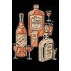 Buyenlarge 'Whiskey, Wine & Gin' Vintage Advertisement