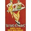 Buyenlarge 'So This is Paris' Vintage Advertisement