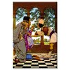 Buyenlarge 'The Chancellor and the King Sampling Tarts' by Maxfield Parrish Painting Print on Canvas
