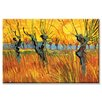 Buyenlarge 'Pollard Willows at Sunset' by Vincent Van Gogh Painting Print on Wrapped Canvas