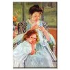 Buyenlarge 'Young Mother Sewing' by Mary Cassatt Painting Print on Wrapped Canvas