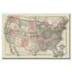 Buyenlarge Map of the United States Territories 1872 Graphic Art on Wrapped Canvas