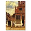 Buyenlarge The Little Street by Johannes Vermeer Painting Print on Wrapped Canvas