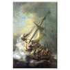 Buyenlarge Christ in a Storm on the Sea of Galilee Painting Print on Wrapped Canvas
