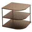 Seville Classics Perforated Corner Kitchen Cabinet Organizer Rack