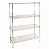 "Seville Classics UltraZinc NSF Commercial Wire System 54"" H 4 shelf Shelving Unit"