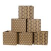 Sprout Leaf Pattern Decorative Storage Box (Set of 6)
